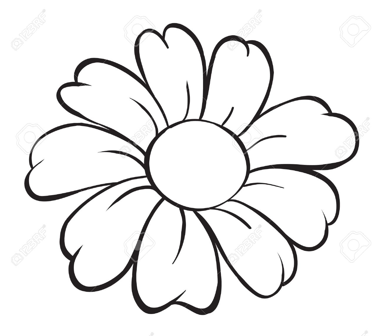 banner black and white Easy cartoon drawings and. Cartoons drawing flower