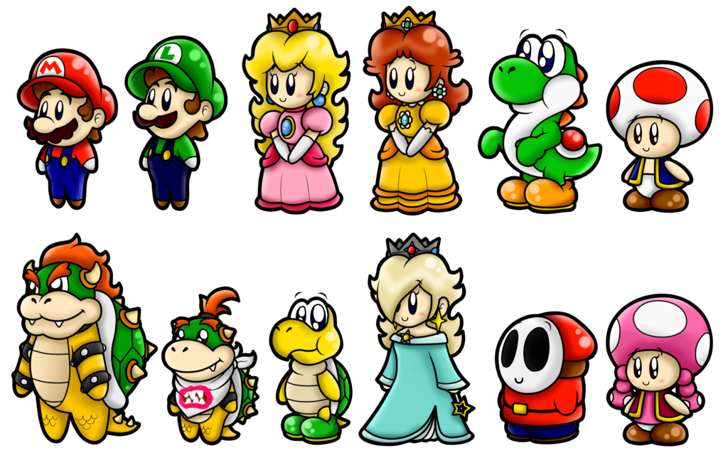 png black and white stock Super Mario Cute Characters