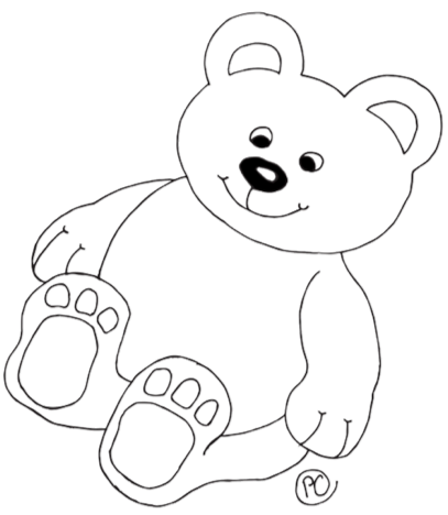 clip art black and white download How to draw a Teddy Bear