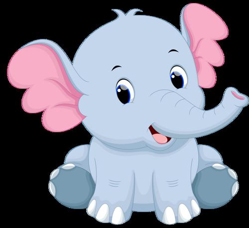 vector transparent stock Cartoon elephant png. Vector cartoons baby