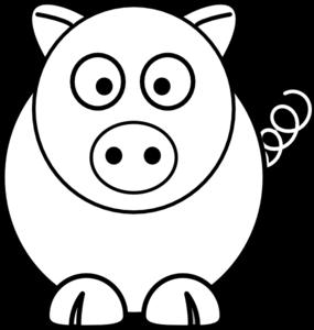 jpg freeuse stock Vector cartoons black and white. Cartoon pig clip art