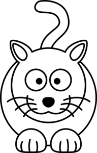 png free stock Lemmling cartoon cat line. Vector cartoons black and white