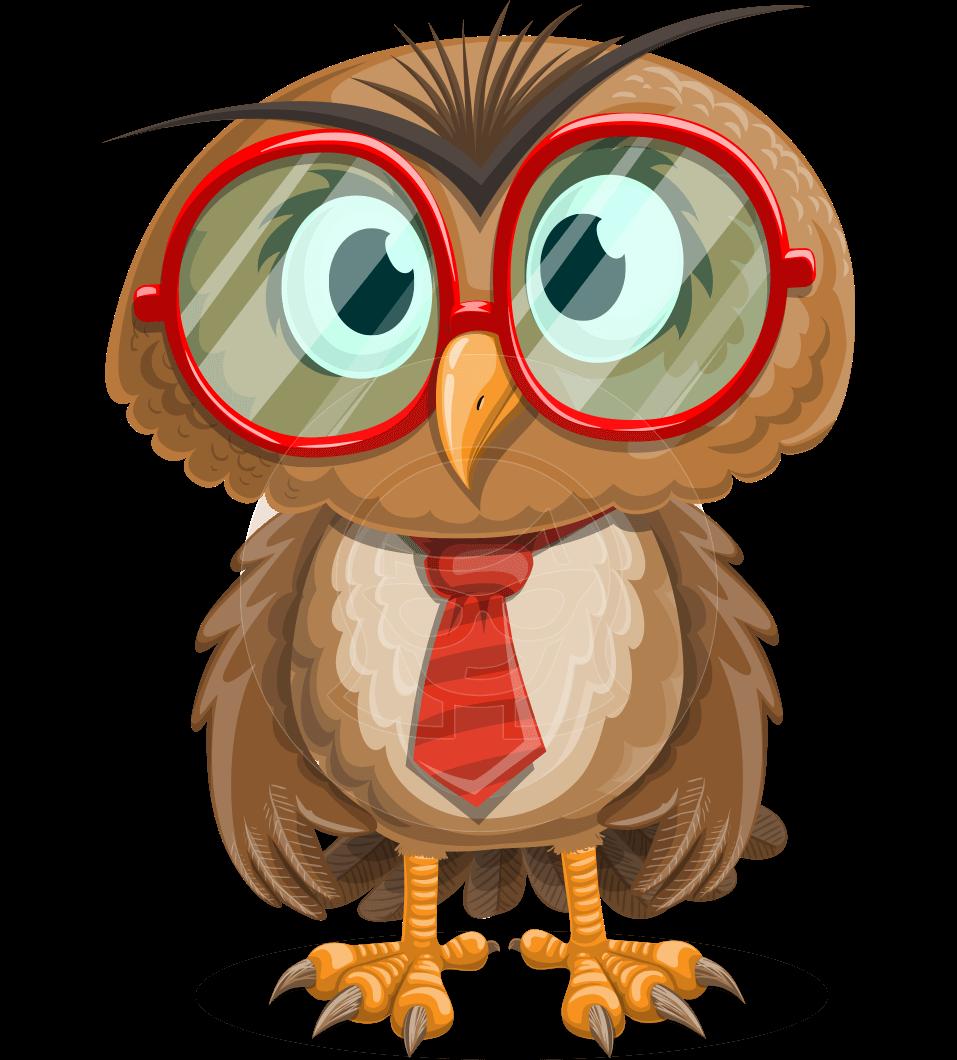 banner library stock Owlbert witty art random. Vector cartoons cute
