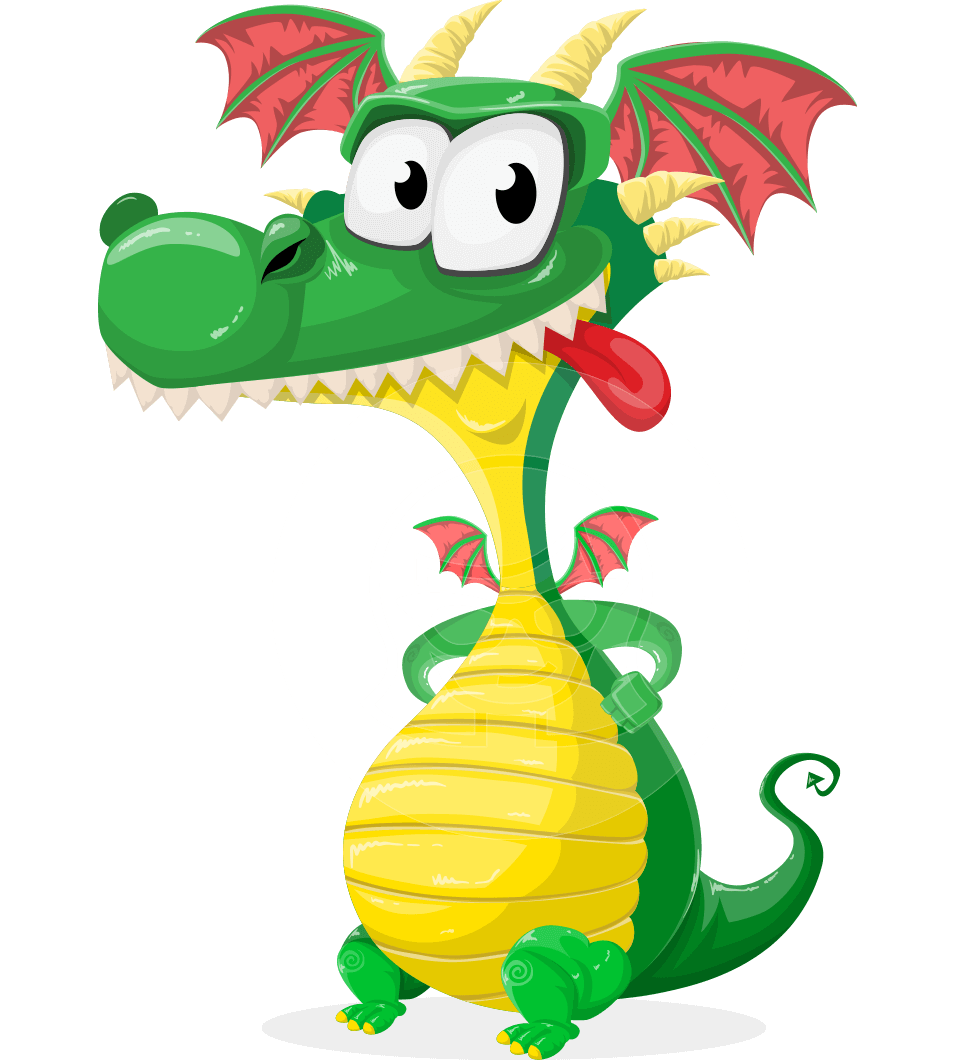 png transparent download Vector cartoons dragon. Spiky as cute mighty