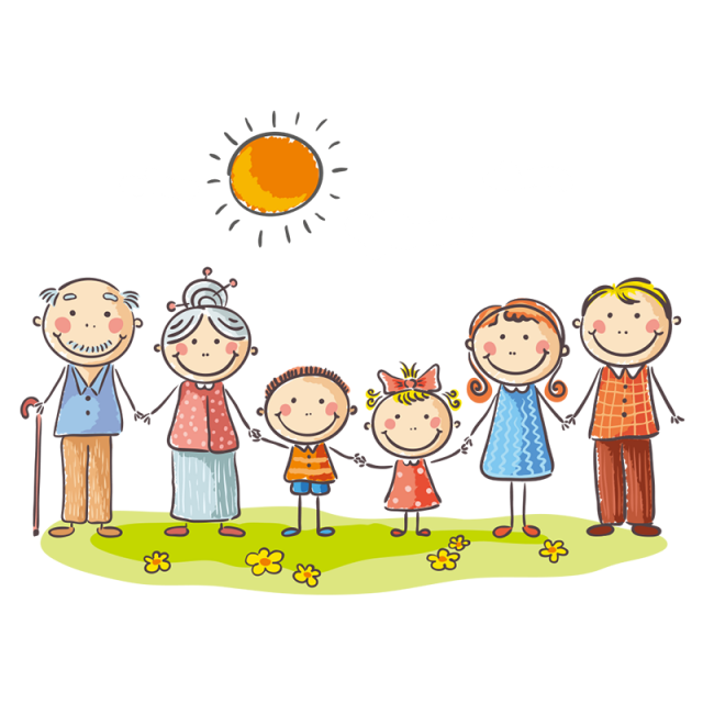 svg free Vector cartoons family. My members png and