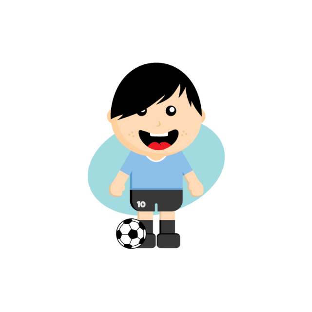 clip art black and white download Cartoon Soccer Player