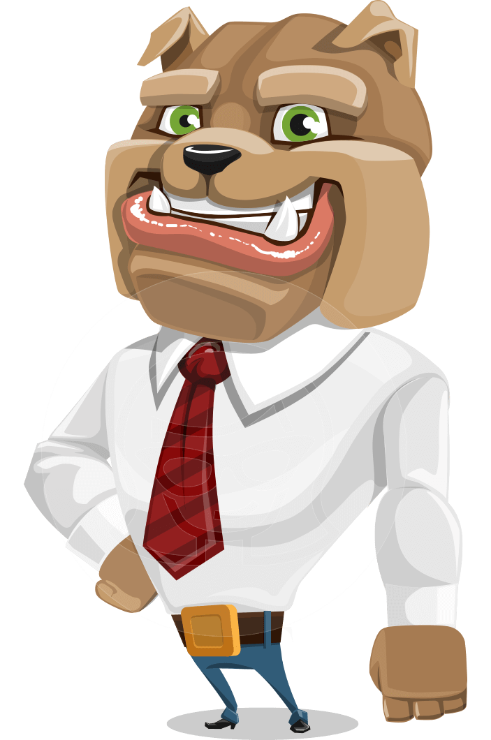 picture free Vector dental animation. Business confident dog cartoon