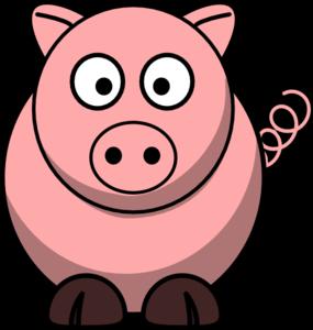 jpg transparent download Pig cartoon clip art. Vector cartoons simple