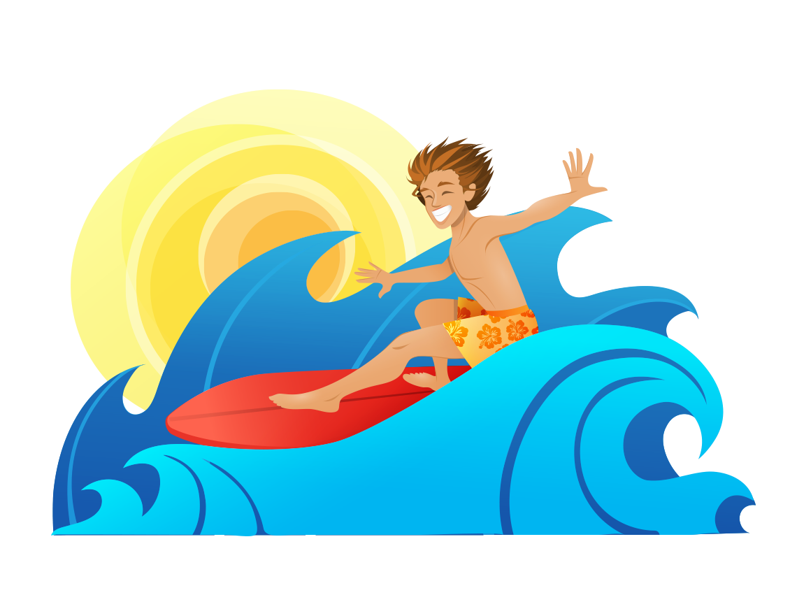 clip transparent stock Silver Surfer Surfing Cartoon Wind wave