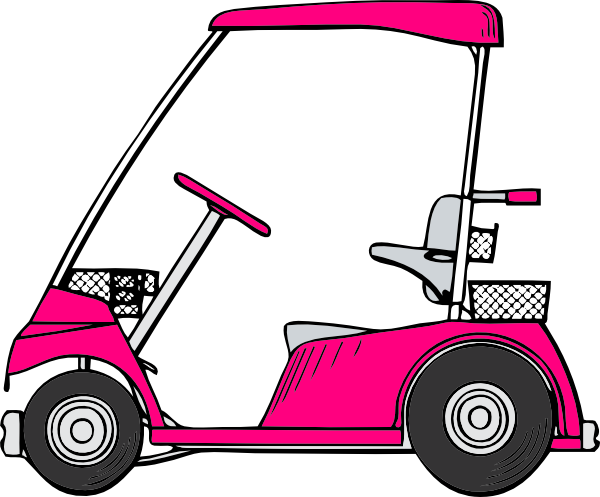 vector freeuse library Carts clipart. Pink golf cart clip