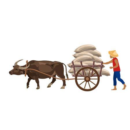 graphic free stock Carts clipart buffalo.  cart free clip.