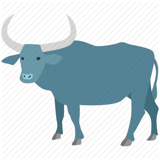 vector black and white library Mammals ii color by. Carts clipart buffalo.