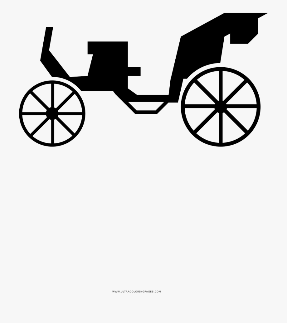 vector royalty free library Carts clipart calesa. Horse drawn carriage silhouette