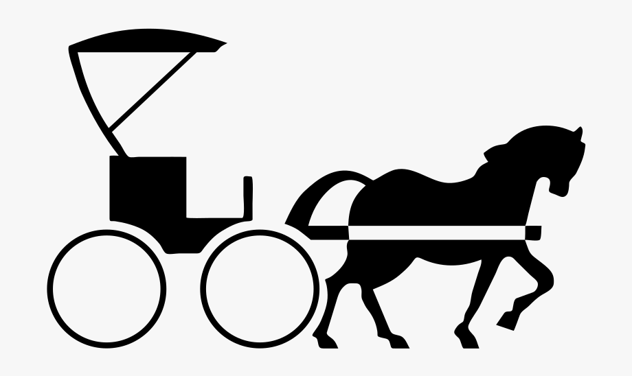 vector royalty free download Carts clipart calesa. Horse drawn carriage transparent