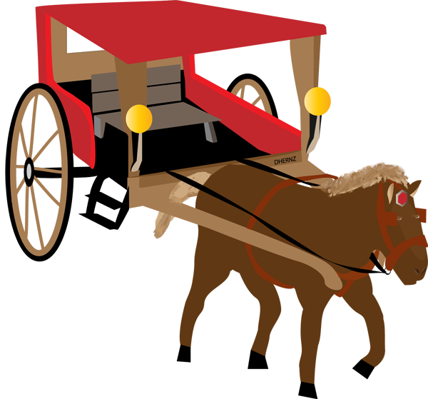 vector freeuse download Horse Drawn Carriage Clipart calesa