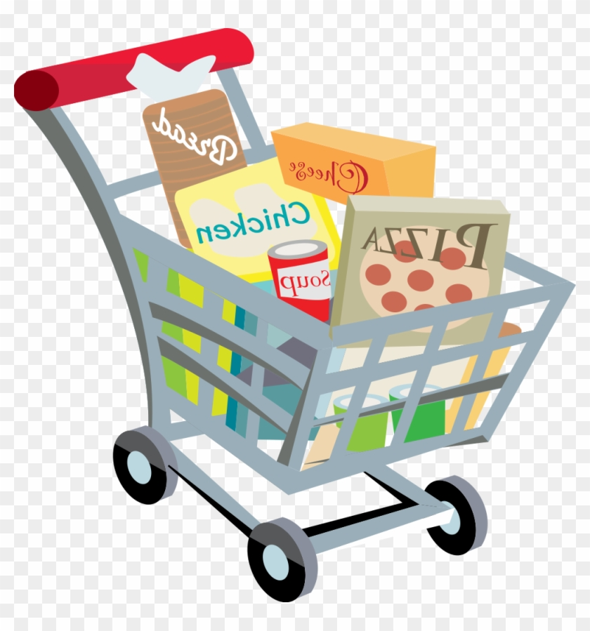 clip free library Full grocery cart transparent. Supermarket clipart shopping trolly