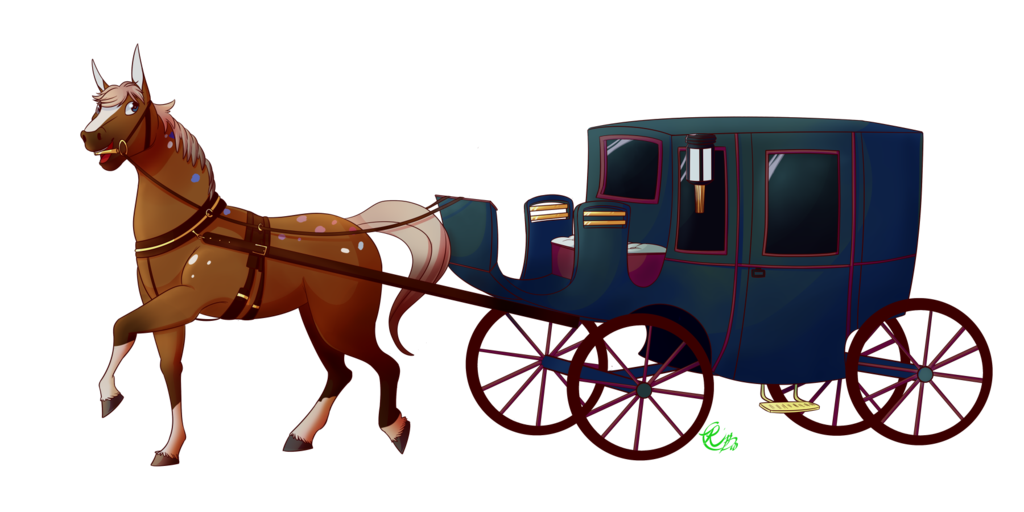 transparent library Horse and buggy drawing. Carriage clipart wedding carriage.