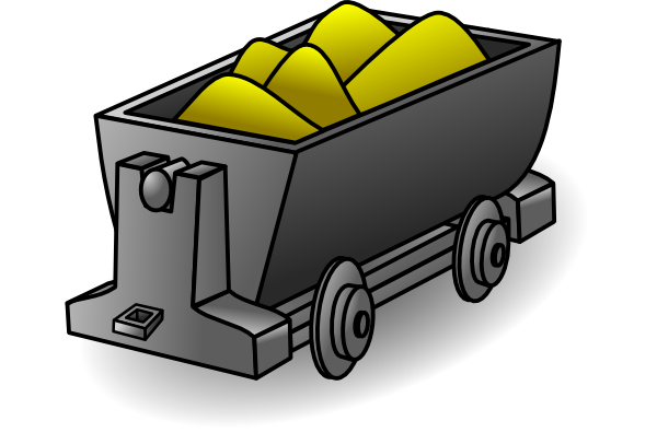 black and white library Golden clipart gold mine. Cart clip art at