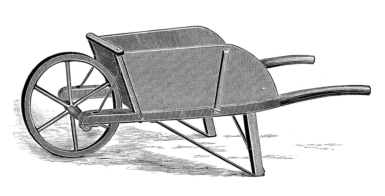 image stock  garden tools clip. Wheelbarrow clipart rustic wooden