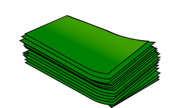 clipart free stock Wad of clip art. Cash clipart green money.