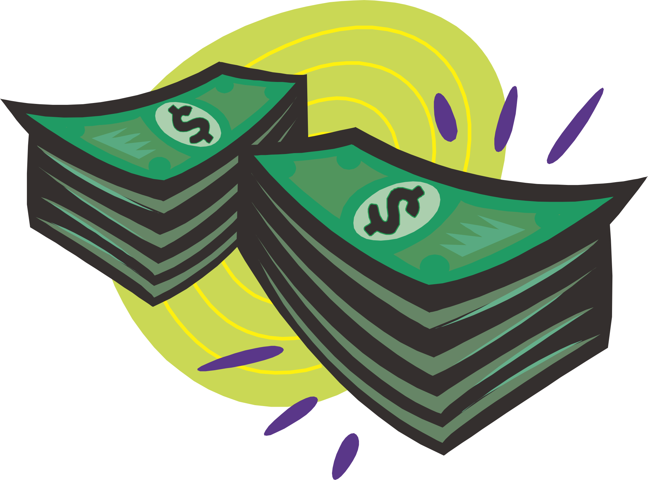 jpg library Clip art dollar transprent. Cash clipart green money.