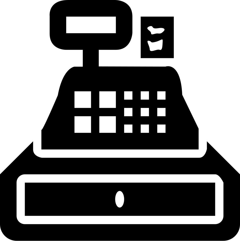 banner transparent stock Cash register clipart black and white. Svg png icon free