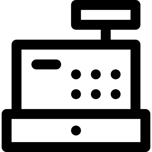 picture royalty free library Cash register clipart black and white. Icon