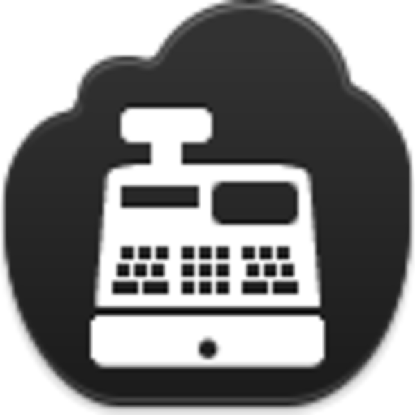 clip transparent stock Cash register clipart black and white. Icon free images at