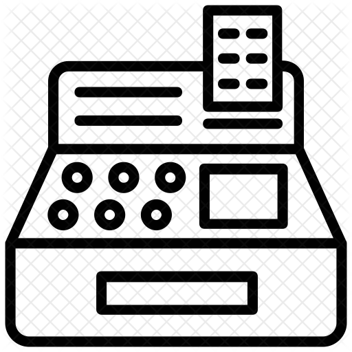 svg transparent library Cash register clipart black and white. Icon png shared by