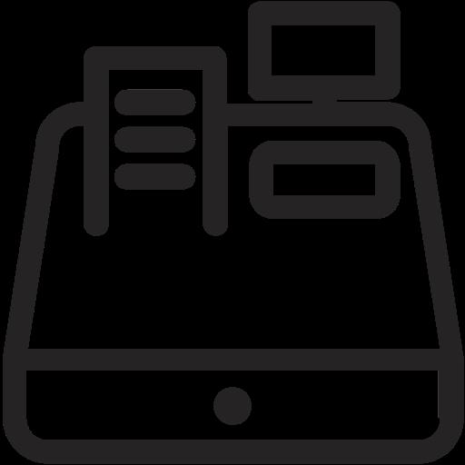 svg black and white download Cashregister png icon web. Cash register clipart black and white