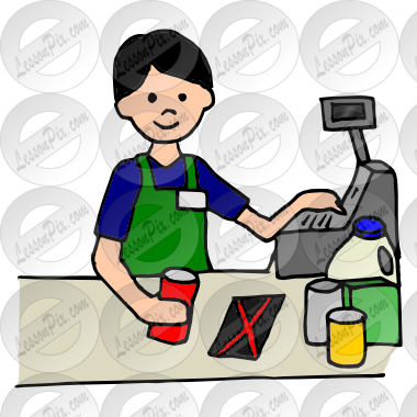 clip freeuse Cashier clipart. Picture for classroom therapy