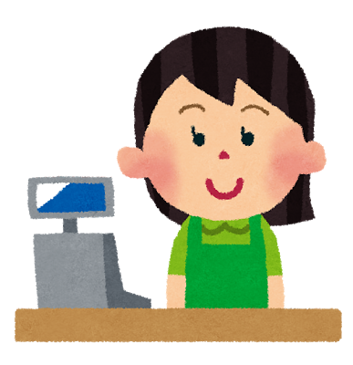 svg royalty free library At a shop mlc. Supermarket clipart restaurant cashier.