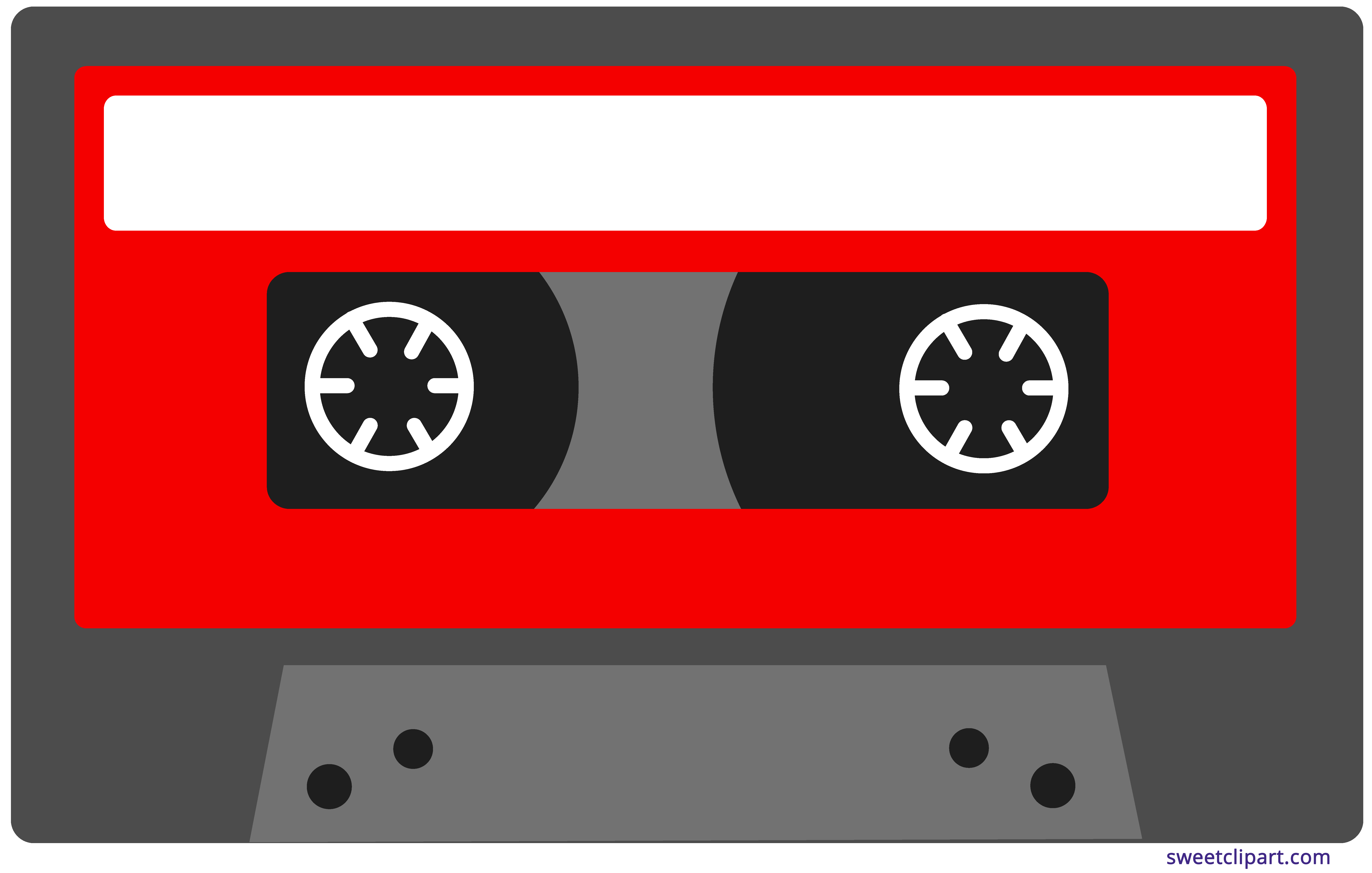 graphic freeuse Cassette clipart. Red tape sweet clip.