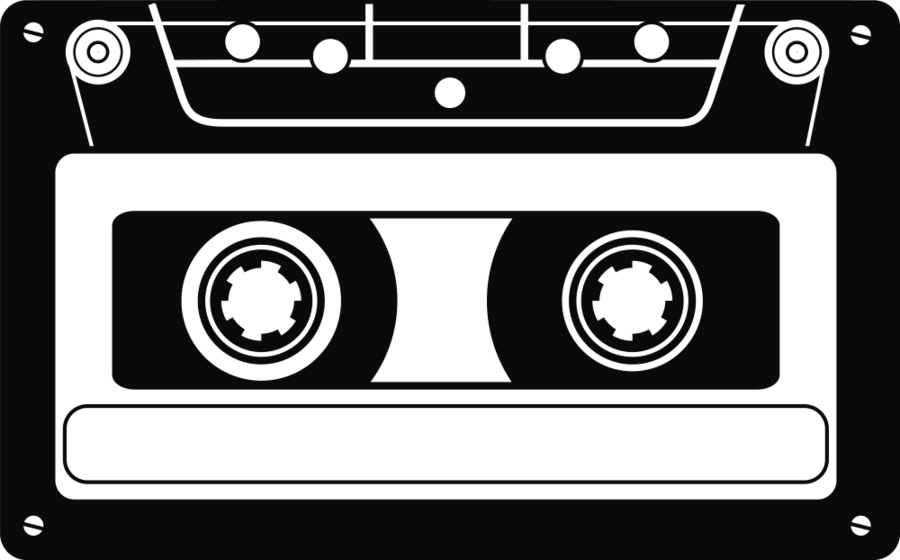 png Cassette clipart. Tape microphone black text.