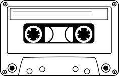 jpg black and white download Tape clip art vector. Cassette clipart.