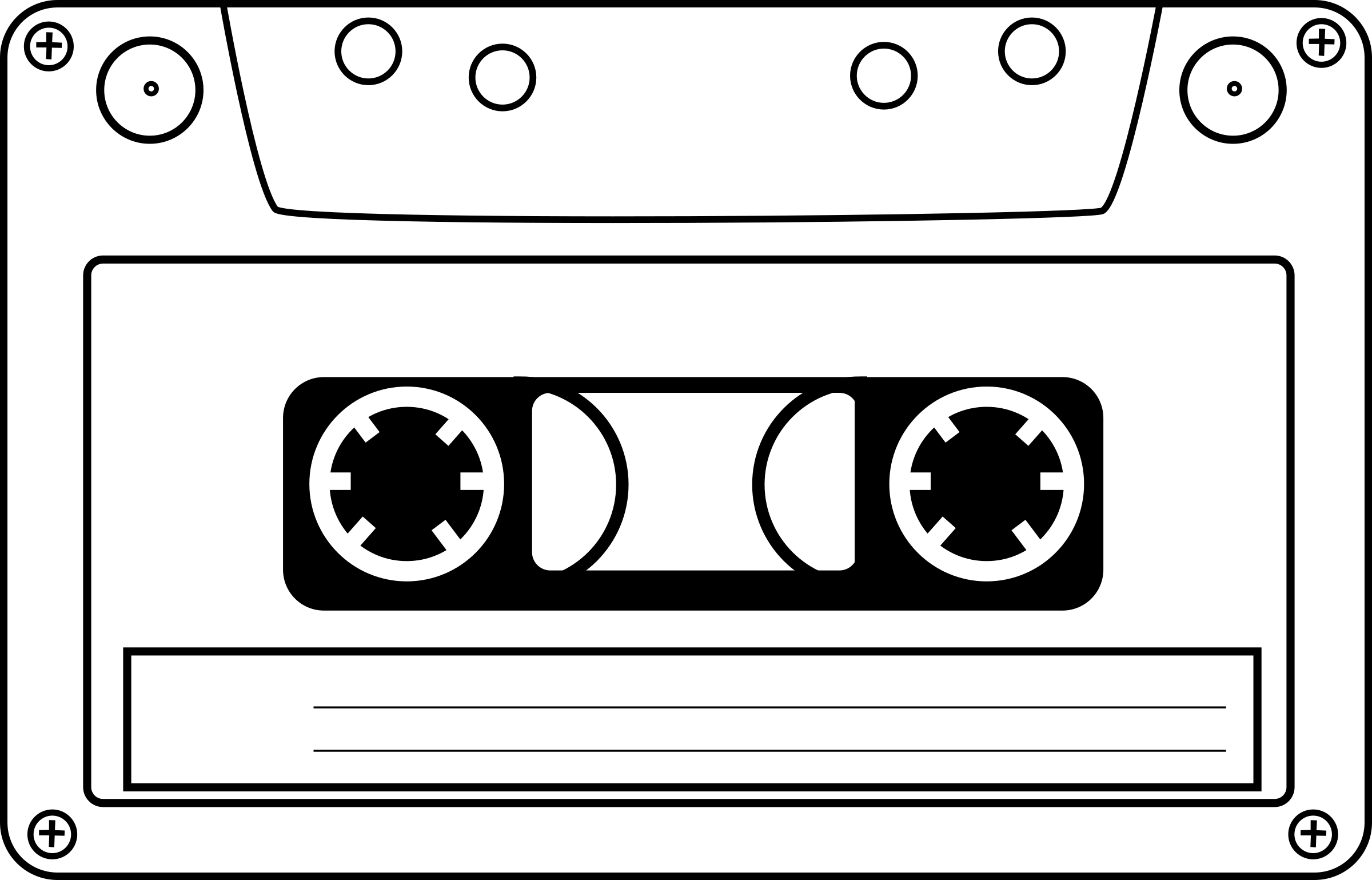 clip royalty free Cassette clipart cartoon. Tape big image png.