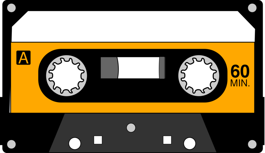 image Sound drawing yellow transparent. Cassette clipart magnetic tape.