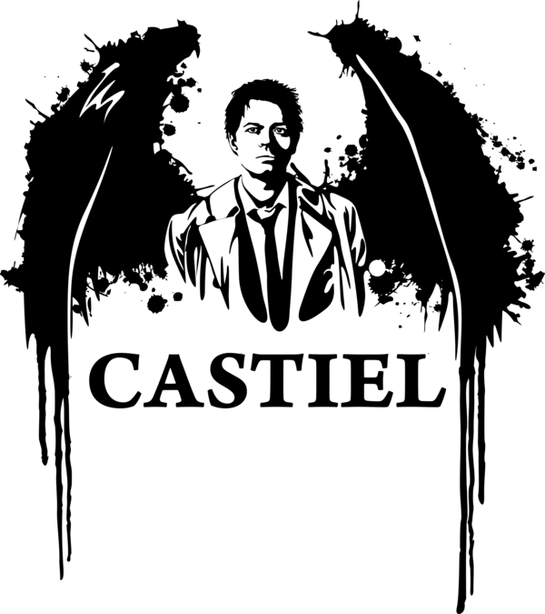 picture Supernatural vector castiel. Wings by mad sam
