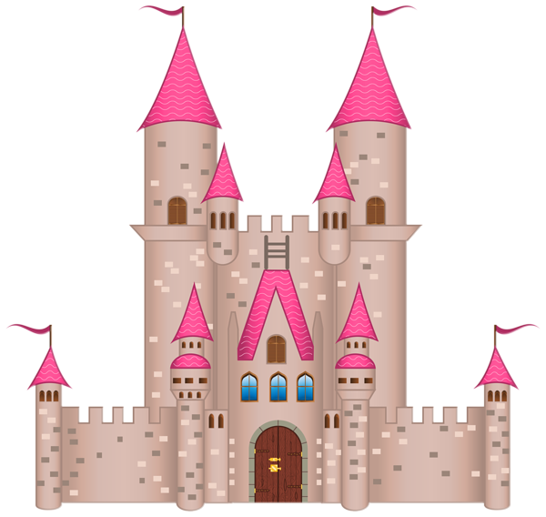 jpg royalty free stock Pink png image clip. Castle clipart.