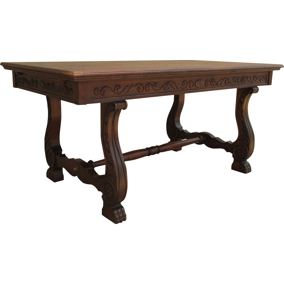 clip royalty free Castle clipart dining room. Antique wooden table .