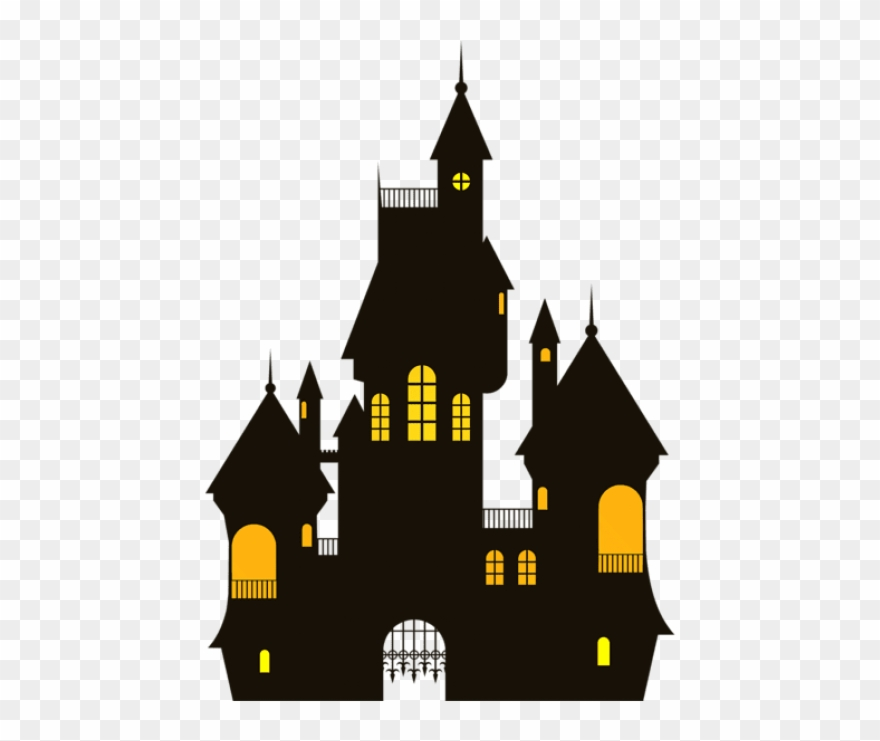 clip art black and white stock Castle transparent. Free png halloween images