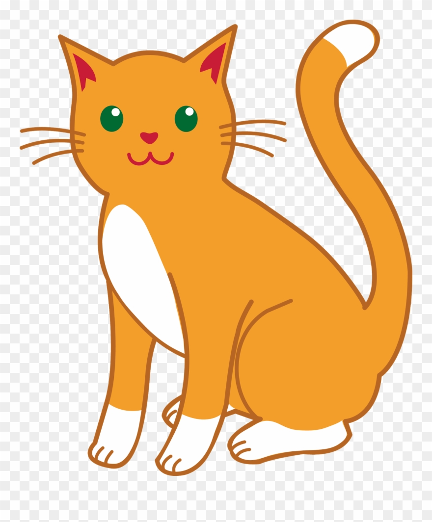 royalty free Cats clipart. Cartoon images orange cat.