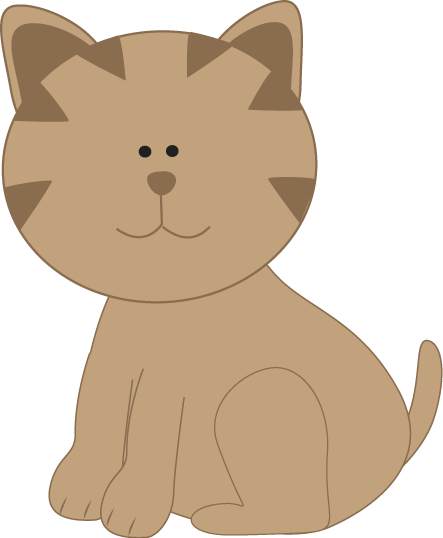 clip art freeuse Cats clipart. Brown cat .