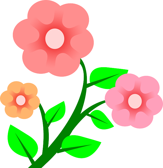 svg royalty free stock Cat clipart floral. Three plants flower flowers.
