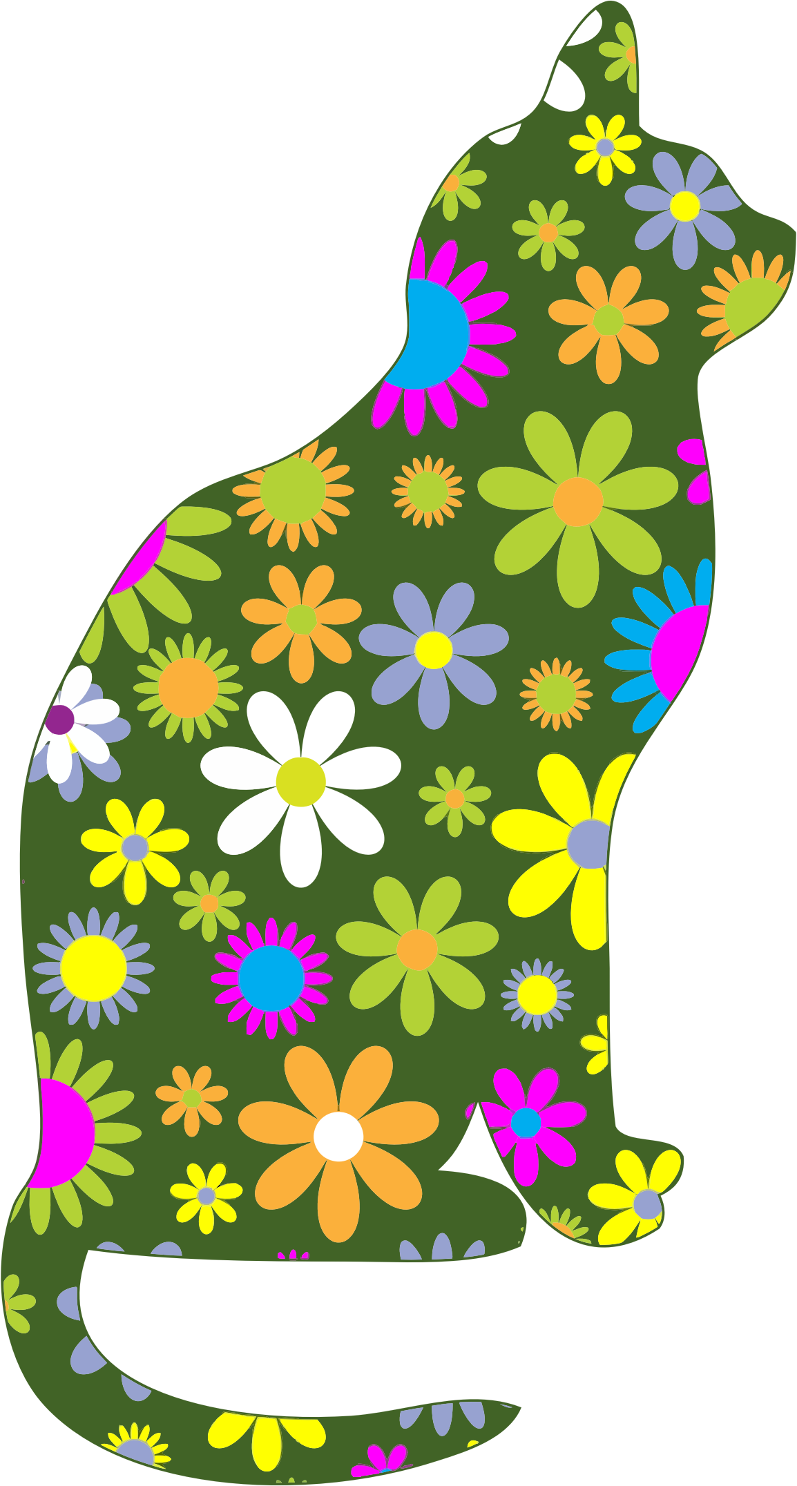 clipart transparent library Appzumbi apps news games. Cat clipart floral.