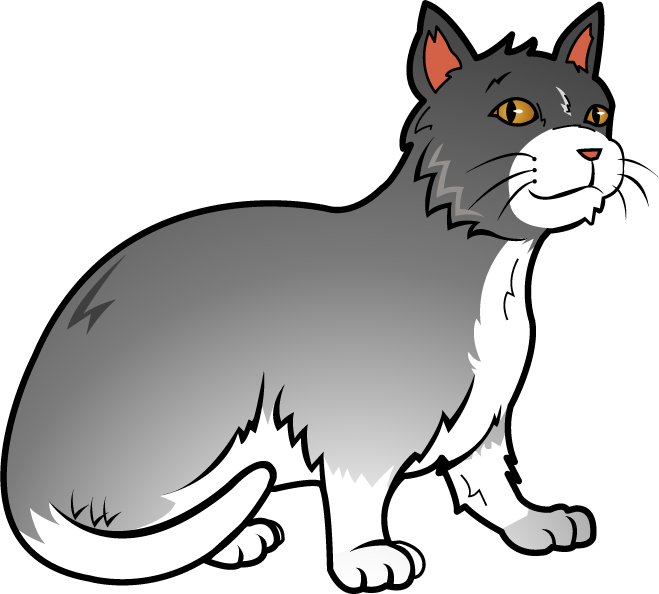 graphic black and white stock Cat Clipart Transparent Background