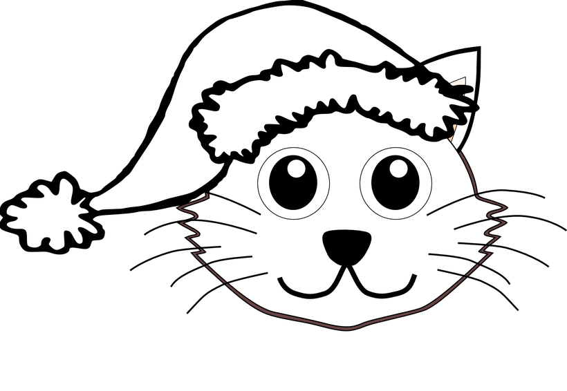 picture freeuse stock Free bedwalls co top. Cat face clipart black and white