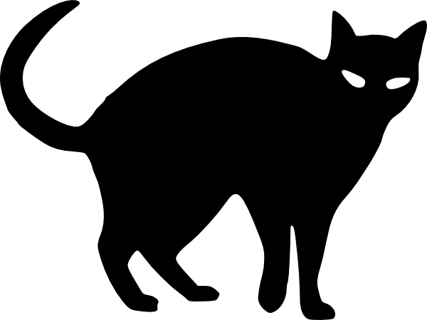 svg Cat Silhouette Clip Art at Clker