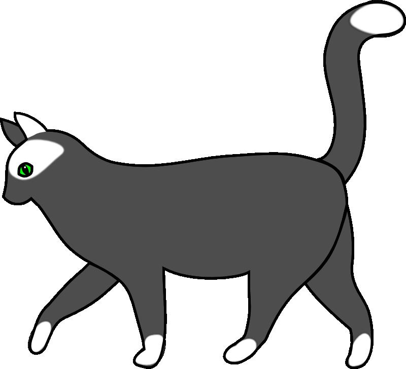 jpg free download Cat walking clipart. Silhouette at getdrawings com