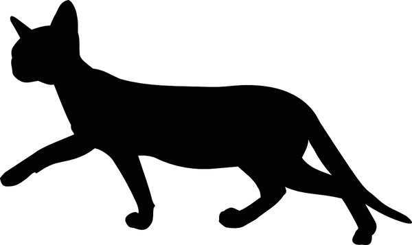 banner Cat walking clipart. Silhouette at getdrawings com